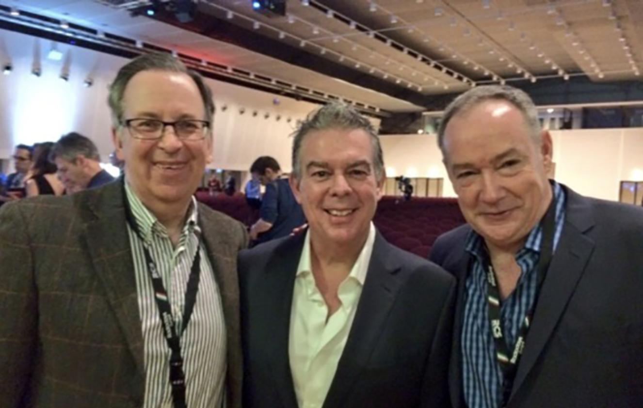 Pictured: John Simons, Elvis Duran, Dennis Clark