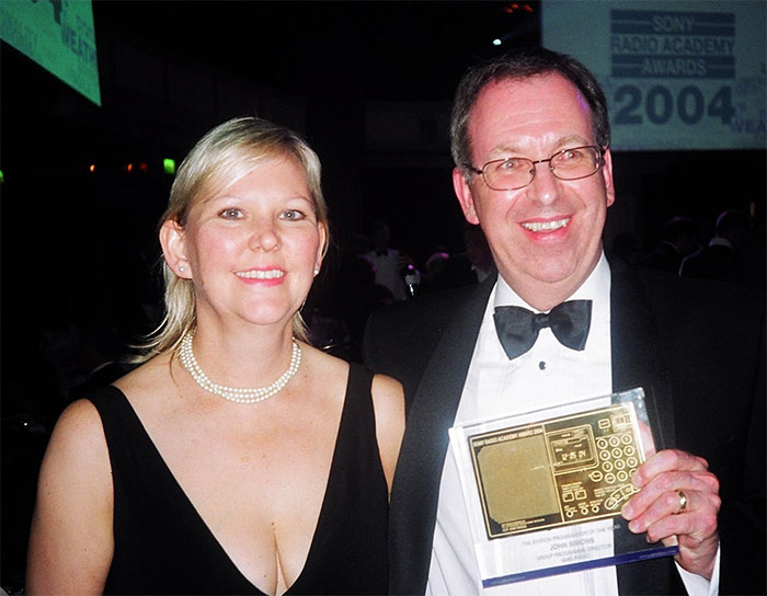 In 2004 I was honoured by the UK Radio Academy and won the accolade of UK programmer of the year