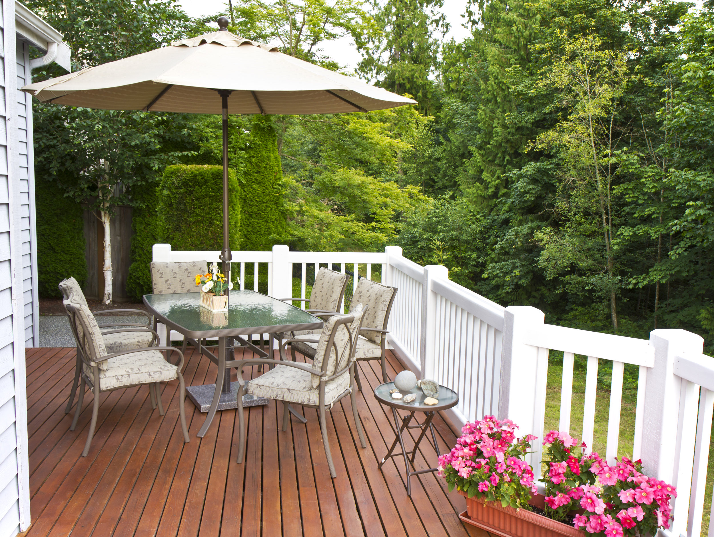 DECKS, PORCHES& SUNROOMS - We live in one of the most beautiful areas of the country. Adding a deck, porch, and/or sunroom will extend your home's living space and increase its overall value. There are many options that will make it easier for you, your family, friends, and pets to relax, enjoy the sun, and get closer to nature.