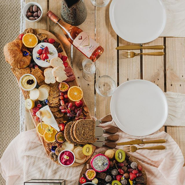 P L A T T E R  G O O D N E S S I loved creating todays picnic platter set-up for two 😍  Food, rosé and a great view - how good?  Message me to book in your picnic platter for two anywhere in Marlborough for $150 🍇  Enquiries for grazing tables, picnics for larger groups, parties etc, get in touch for a custom quote!  Photography: @mattcroadphoto ✨