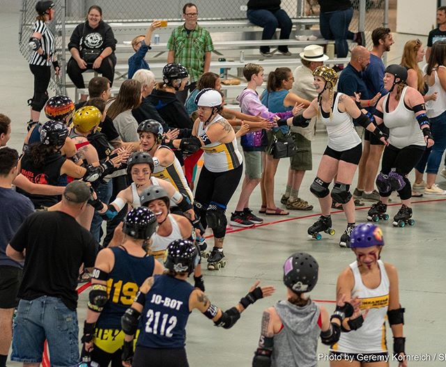 It's Derby Fan Friday!!! Okay, that's not a real thing, but it should be because we wouldn't be anything without our fans!!! You all make it possible and you all give us a reason to play, so we sincerely thank you!! 🖤💛🖤💛🖤 #liveboldbleedgold #bcb #sk8rats #clawandtalontattoo #thearepajoint #lefthandlaserstudio #gooddaychocolate #locogastropub #locoskateshop #300sunsbrewing #lefthandbrewingco #spirithounddistillers #finkleandgarf
