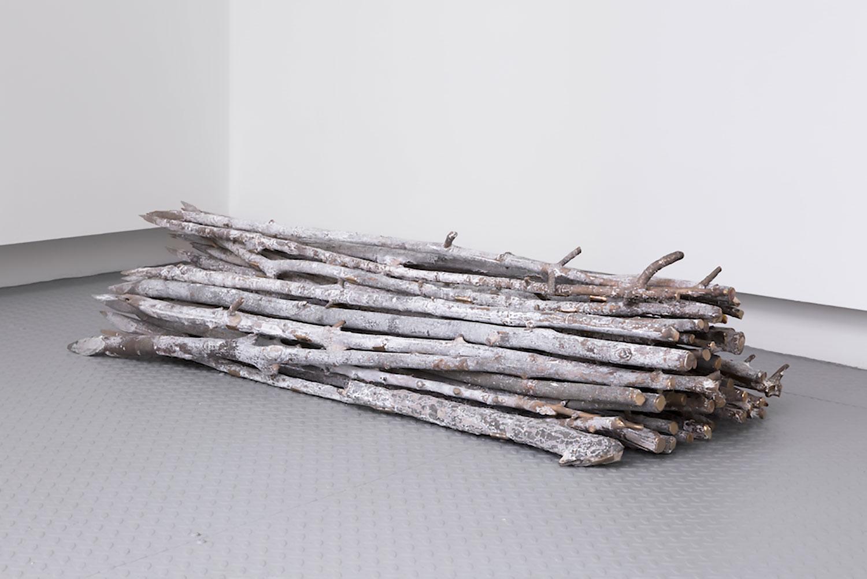"""Abbas Akhavan ,  A Study for a Garden , 2018, Cast bronze, 20"""" x 48"""" x 12"""", Courtesy Caisse de dêpot et placement"""