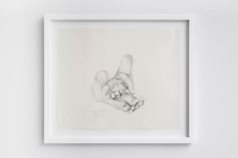 "Maskull Lasserre ,  Earth Taster , 2016, Graphite on paper, 18"" x 24"""