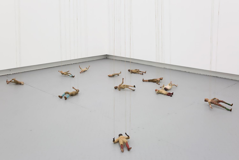 Latifa Echakhch ,  Senza Titolo (Personagi) , 2018, Neapolitan figurines, Dimensions variable, Courtesy Galerie Kamel Mennour