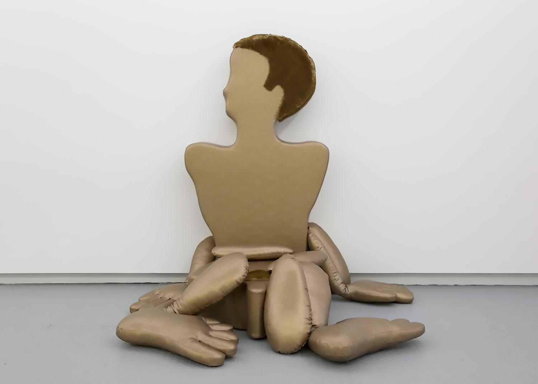 Nicola L ,  Sofa Homme , 1970, Vinyl, acrylic, fur, Variable dimensions, Courtesy Estate of Nicola L / Elga Wimmer Gallery