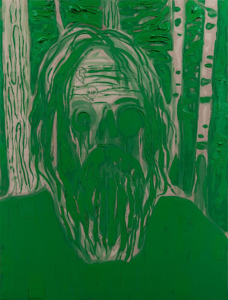 """Self , 2017, Oil on linen, 96"""" x 73"""""""