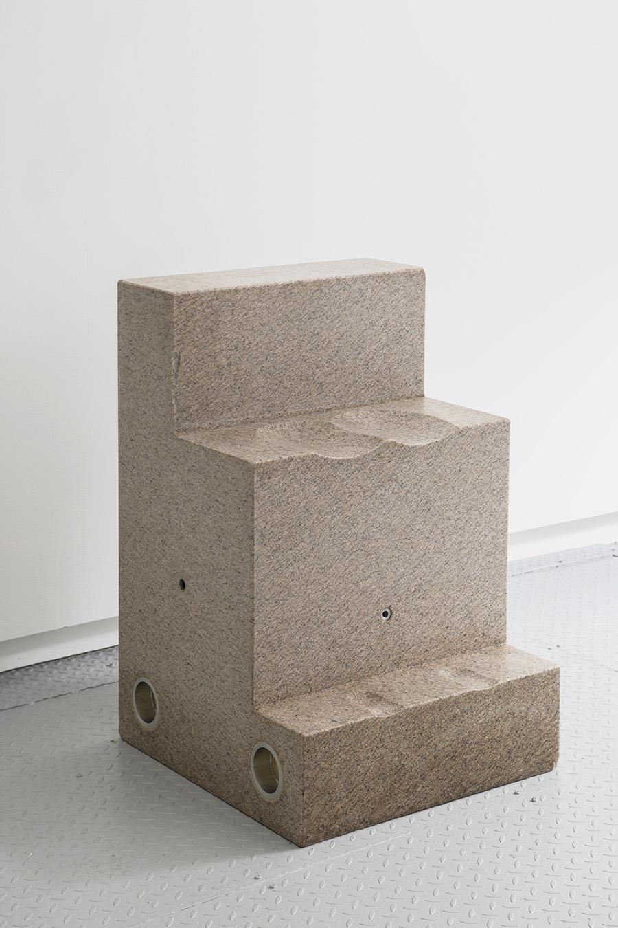 """Throne , 2017, Granite, 36"""" x 24"""" x 24 ¼"""""""