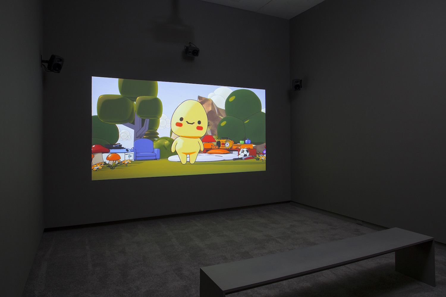 Installation view of  Tulip Fever , 2017, Edition of 5, HD Video, 9m21s