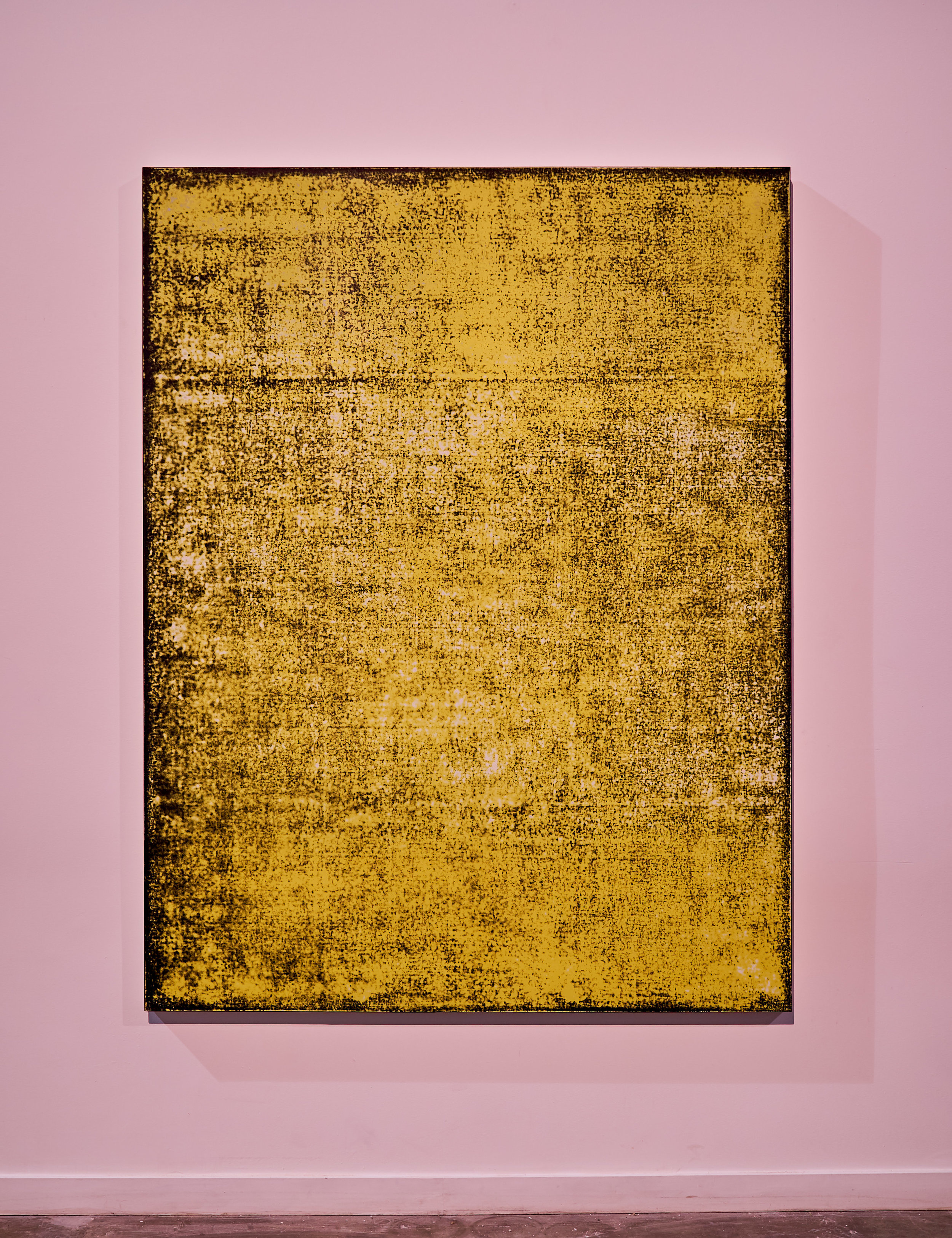 Nicolas Lachance ,    Arylide (noir) , 2018, Lacquer and acrylic on canvas, 77′′ x 59′′ (195,6 x 149,9 cm)