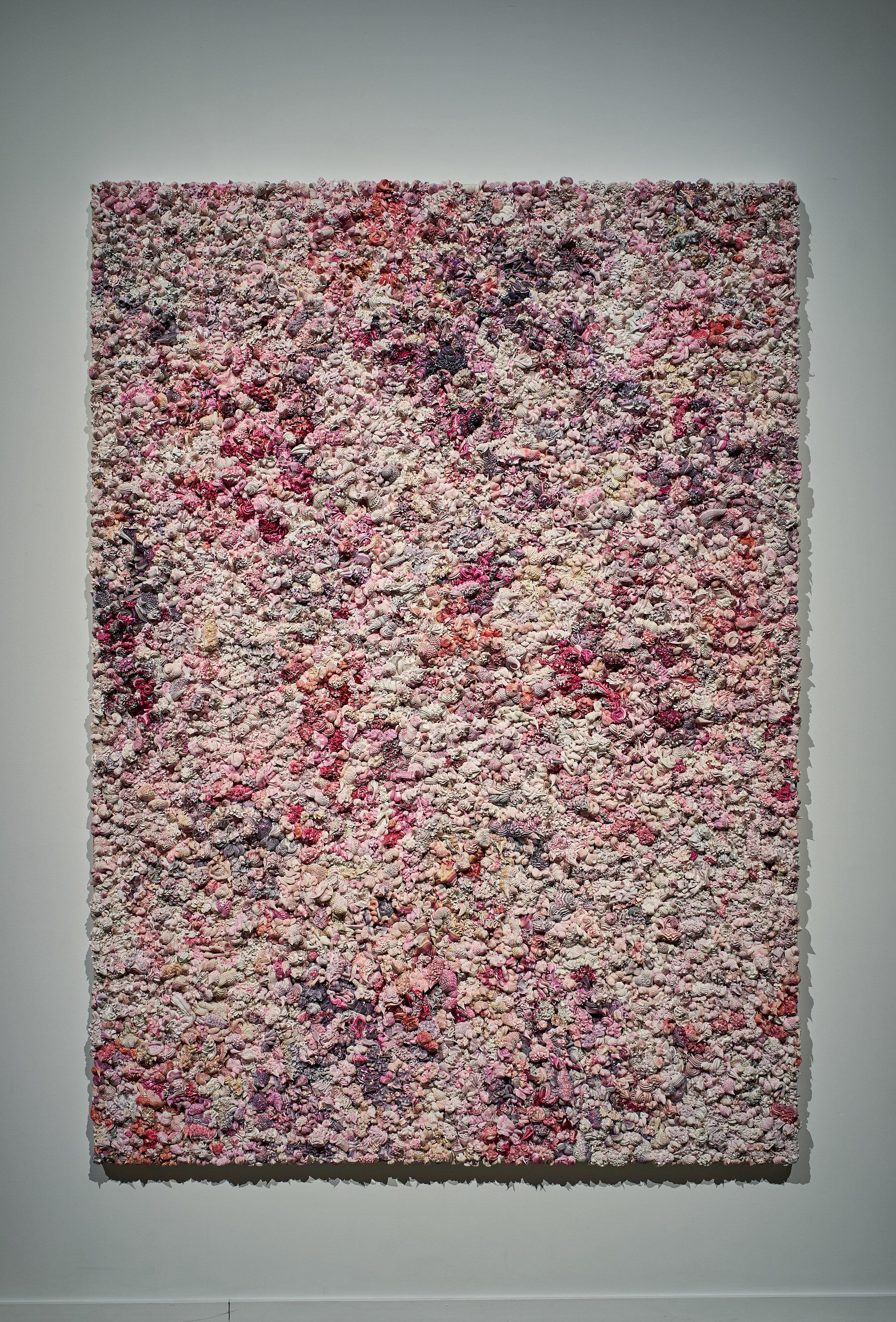 Xu Zhen ,  Under Heaven -- 2808TV1512 , 2015, Oil on canvas, aluminium, 98 3/8′′ x 70 3/4′′ x 5 1/2′′ (249,9 x 179,7 x 14 cm)