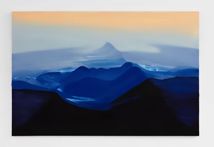 "Shadow Volcano , 2019, Oil on canvas, 48"" x 72"""