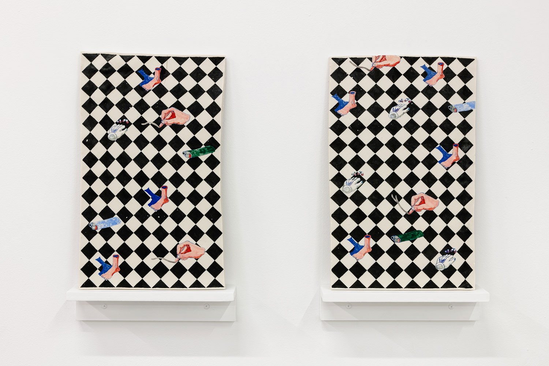 "Floor , 2019, Underglazed Porcelain, 17"" x 13 1/2"""
