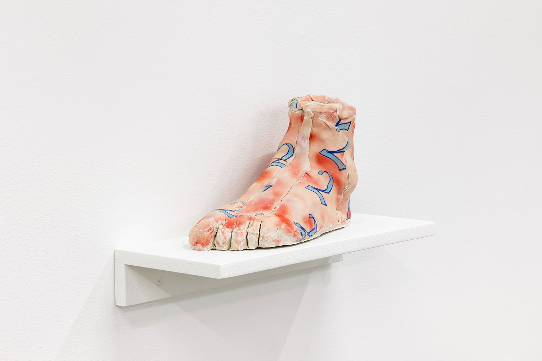 "Foot 1 , 2018, Underglazed Porcelain, 9""x 5"" x 3 1/2"""