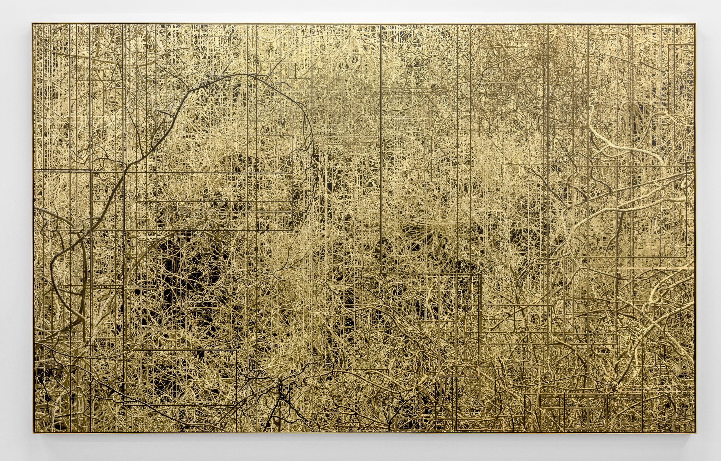 Connectifs , 2017 Ink jet print, acrylic, steel 147 x 239 cm