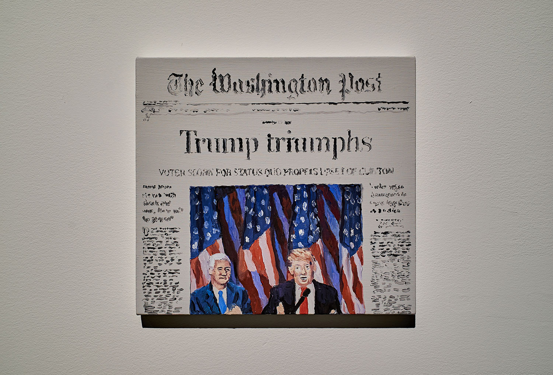 "Cynthia Daignault ,  11/9/2016 (The Washington Post),  2017, Oil on linen, 11"" x 12"" (28 x 30,5 cm)"