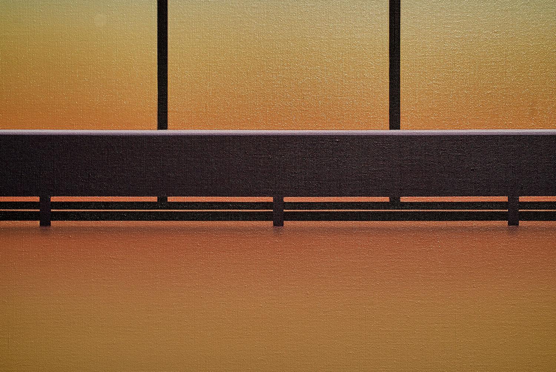 """Pierre Dorion ,  Vitrines (5445 de Gaspé) , 2017, Oil on linen canvas, 72"""" x 170 1/4"""" (183 x 432) (Detail)"""