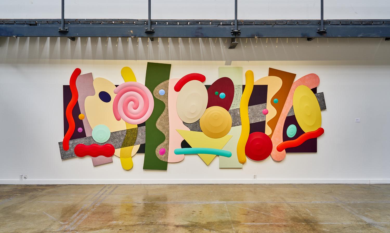 "Josh Sperling ,  Big Time , 2018, Acrylic on canvas, 90 7/8"" x 225 ⅛"" (231 x 572 cm)"