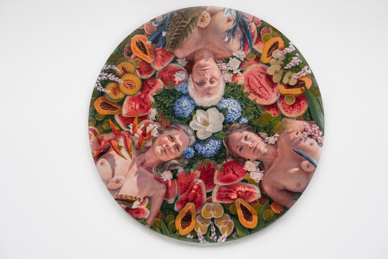 "Alonsa Guevara ,  Herencia , 2018, Oil on canvas, 48"" x 48"" (121,9 x 121,9 cm)"