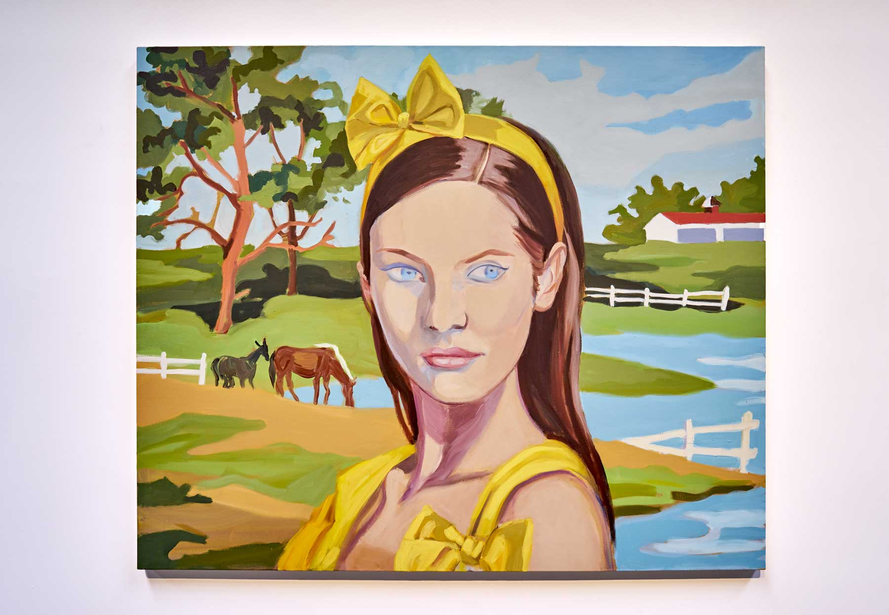 """Janet Werner ,  Yellow Bow , 2008, Oil on canvas, 55"""" x 66"""" (140 x 168 cm)"""