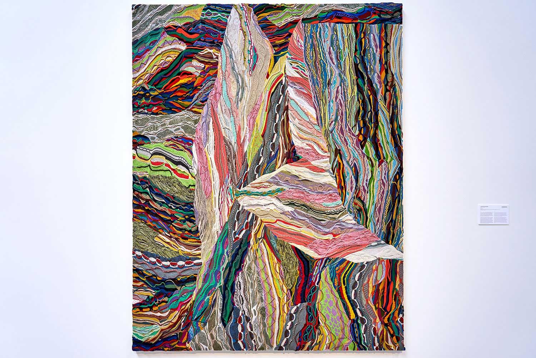 "Jayson Musson ,  Puerta , 2015, Mercerized cotton stretched on linen, 96"" x 72"" (244 x 183 cm)"