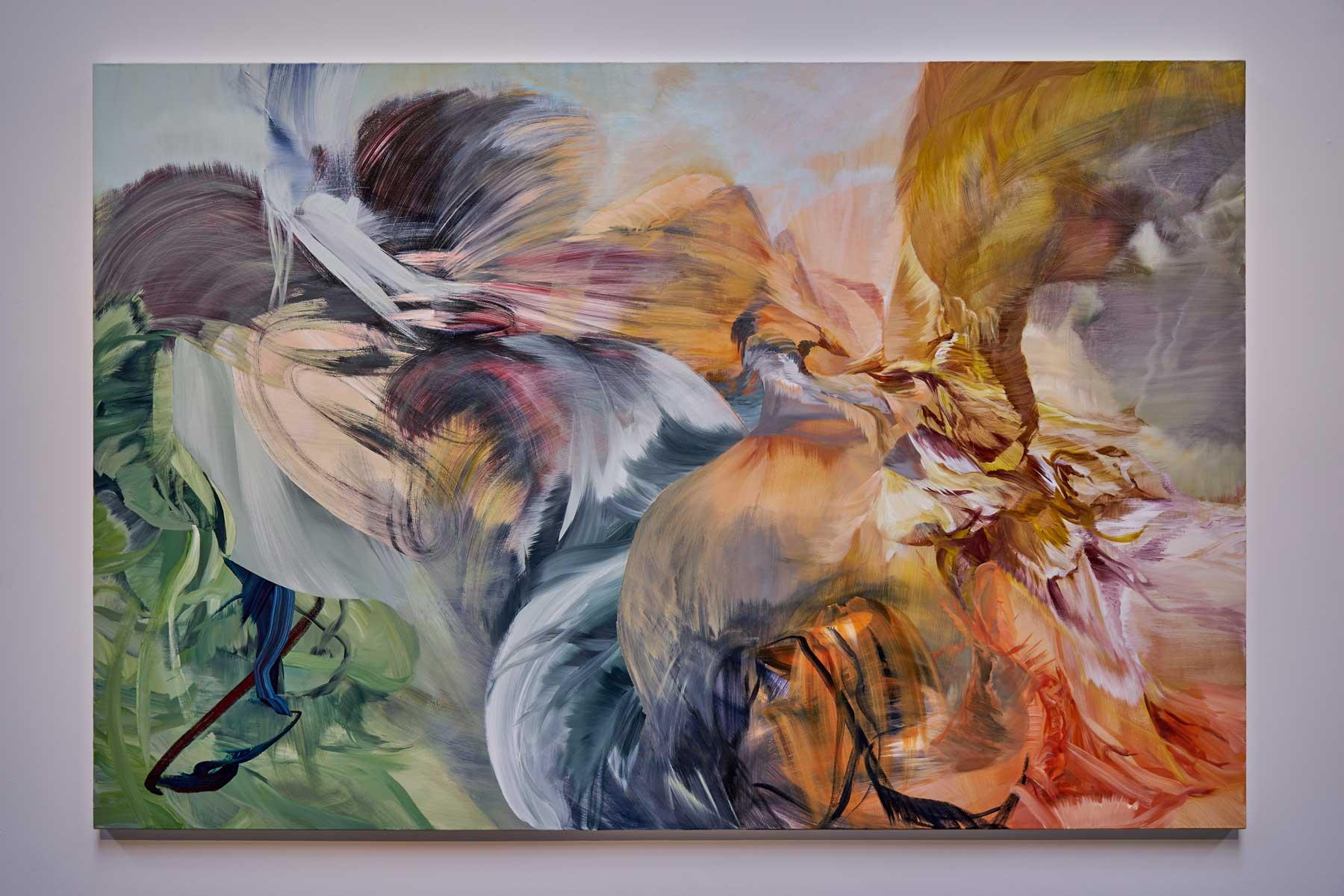 "Melanie Authier,   Chimera , 2016, Acrylic on canvas, 72"" x 108"" (182,9 x 274,3 cm)"