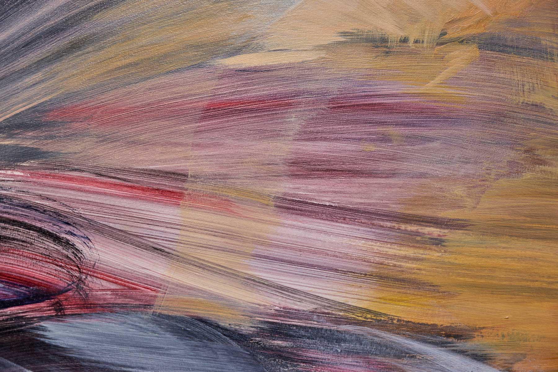 "Melanie Authier ,  Chimera , 2016, Acrylic on canvas, 72"" x 108"" (182,9 x 274,3 cm) (Detail)"