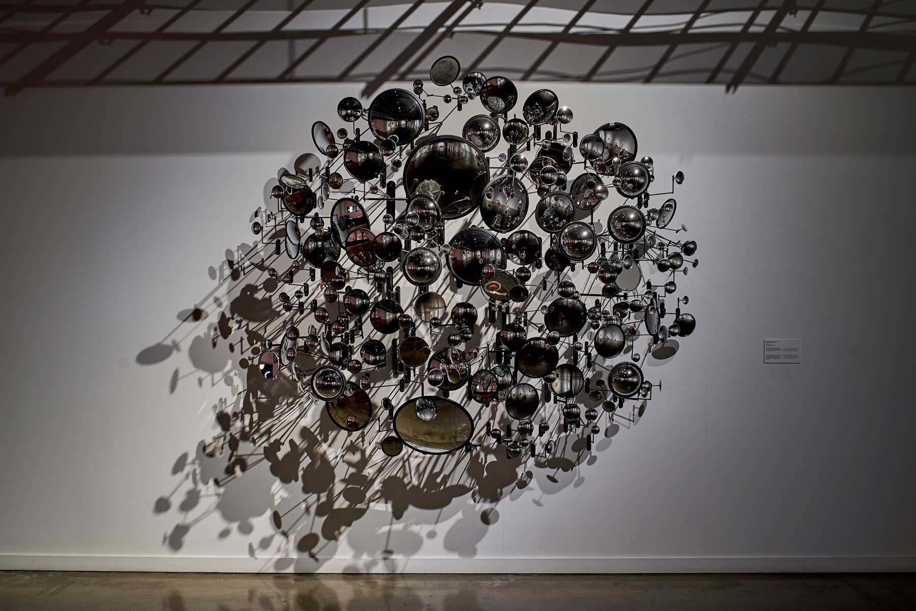 """Graham Caldwell ,  Compound Eye , 2008, Mirrors and steel, 92"""" x 98"""" x 50"""" (234 x 248 x 127 cm). Photo credit: Romain Guilbault"""