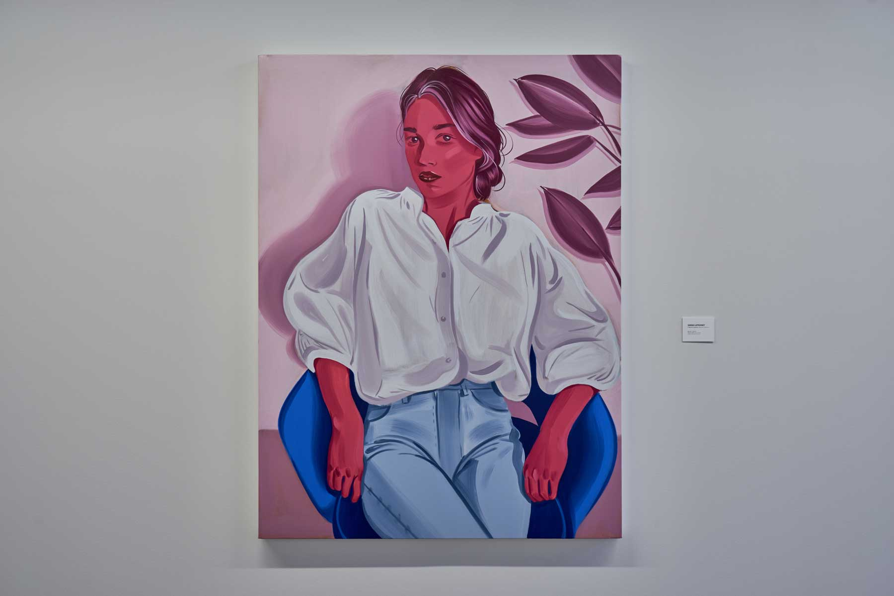"Sarah Letovsky ,  Beatrice 2 , 2018-2019, Oil on Canvas, 60"" x 45"" (152,4 x 114,3 cm)"