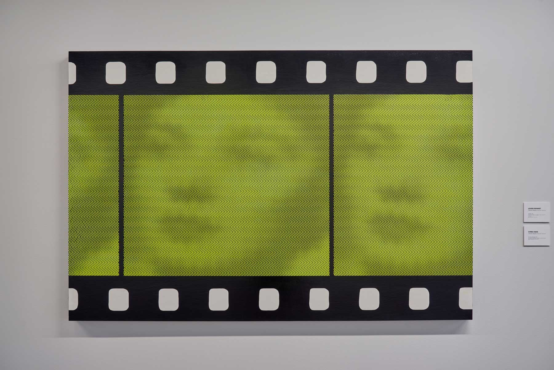 "Chris Cran ,  Film Strip (Zig Zag) , 2017, Acrylic on panel, 40"" x 60"" (101,6 x 152,4 cm)"