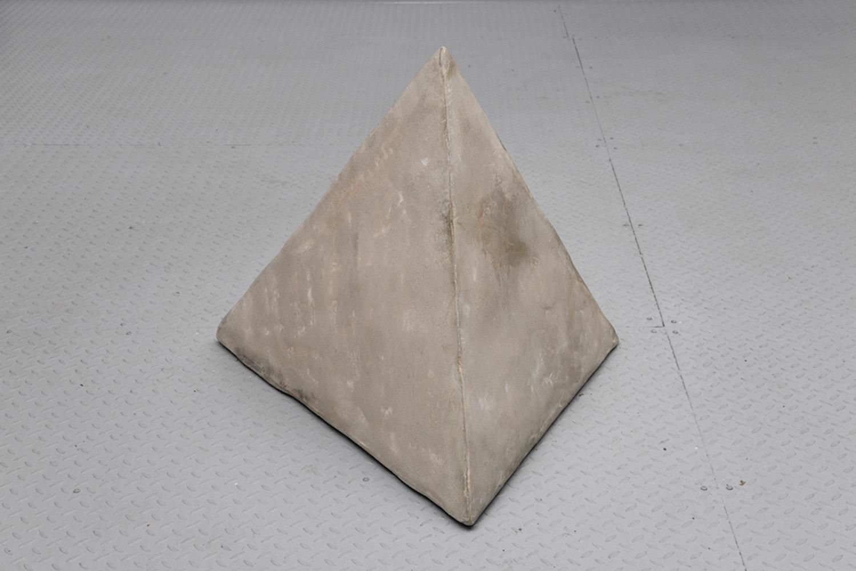 "Caroline Monnet ,  Stability , 2019, Concrete, foam, acrylic, 31"" x 35"" x 35"""