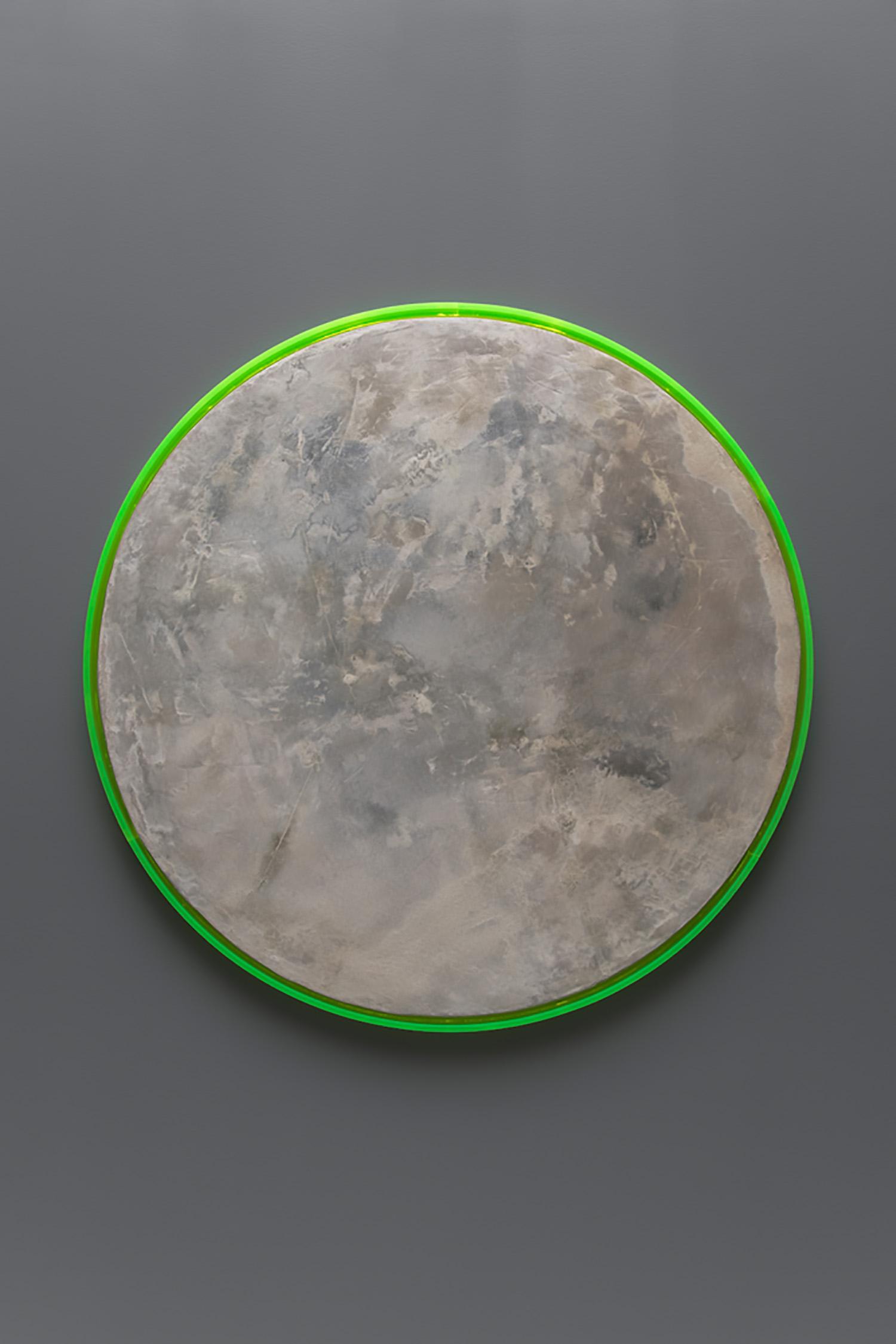 """Caroline Monnet  ,       Smoke Plume 01 , 2019, Concrete, foam, wood frame, 40"""" x 40"""""""