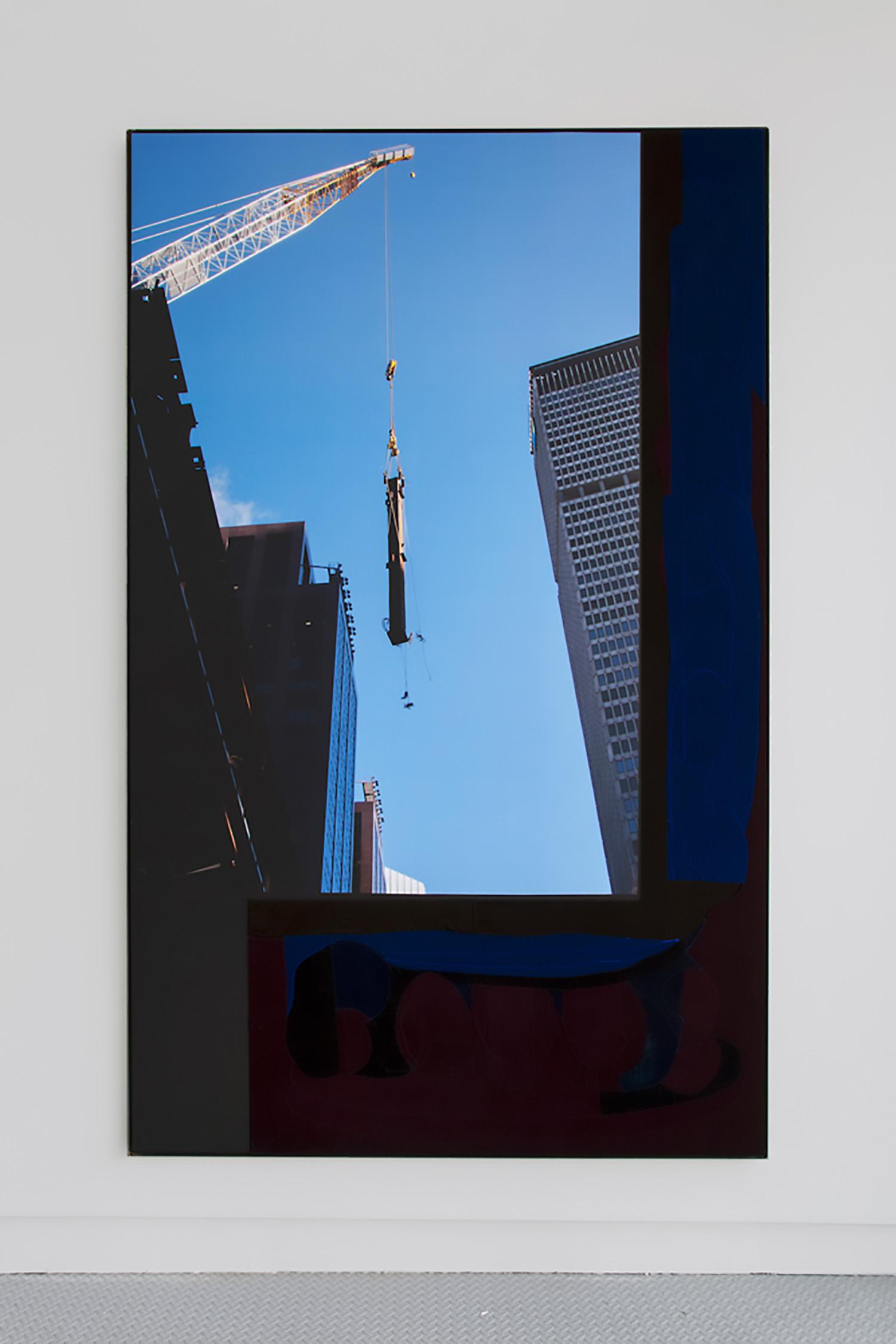"Rose Marcus ,  35,000 Pounds , 2018, Expanded PVC, inkjet print on adhesive vinyl, silk velvet, iron frame, 96"" x 60"""