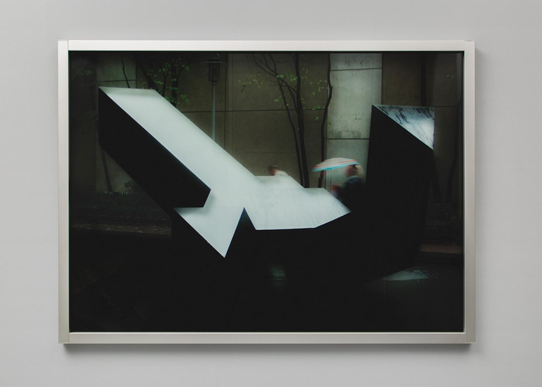 "Rose Marcus ,  Tony (Wet) , 2018, Inkjet print on glass with no white ink, aluminum frame, 49"" x 65"""