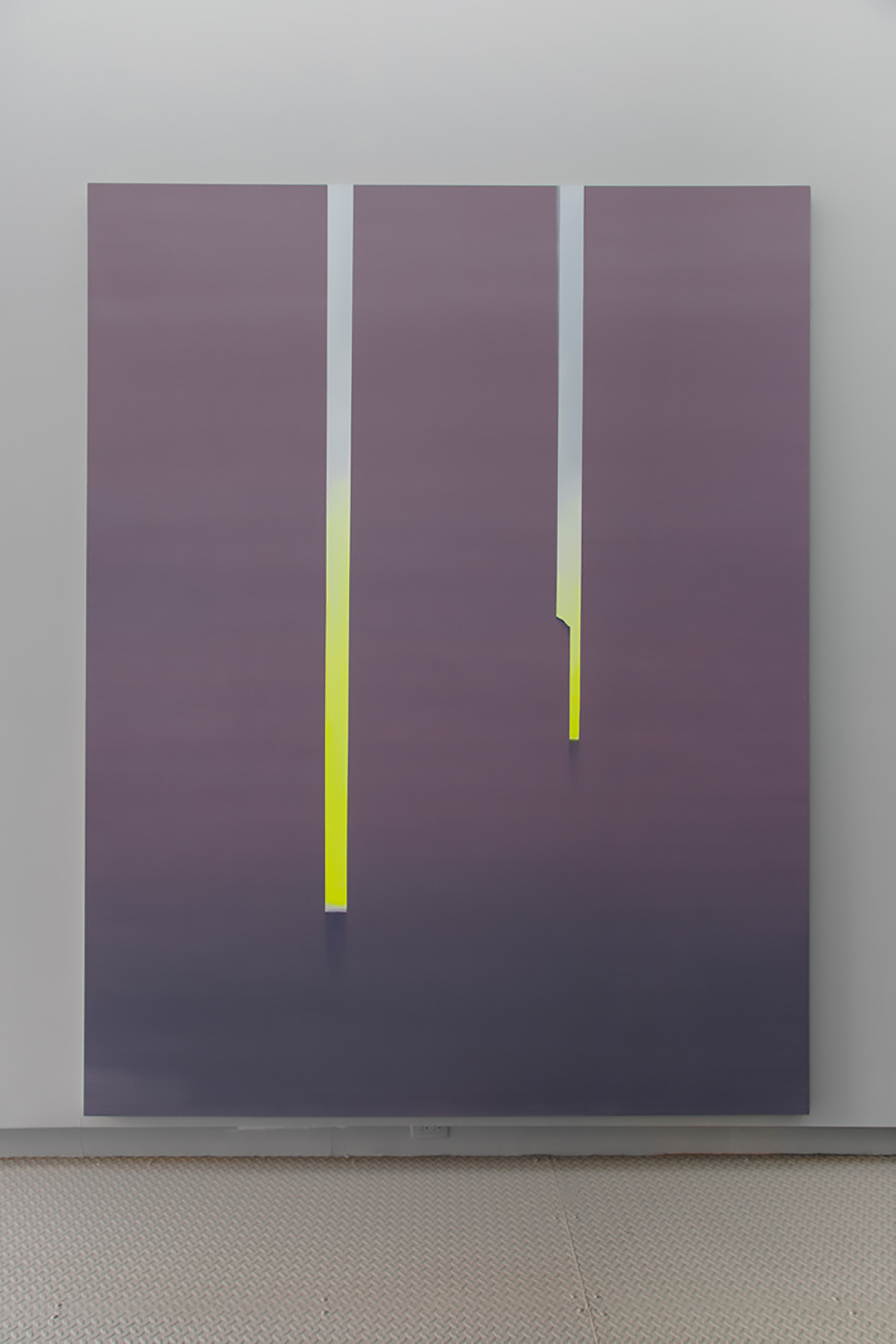 "Wanda Koop ,  In Absentia - Luminous Yellow , 2019, Acrylic on canvas on stretcher, 108"" x 84"""