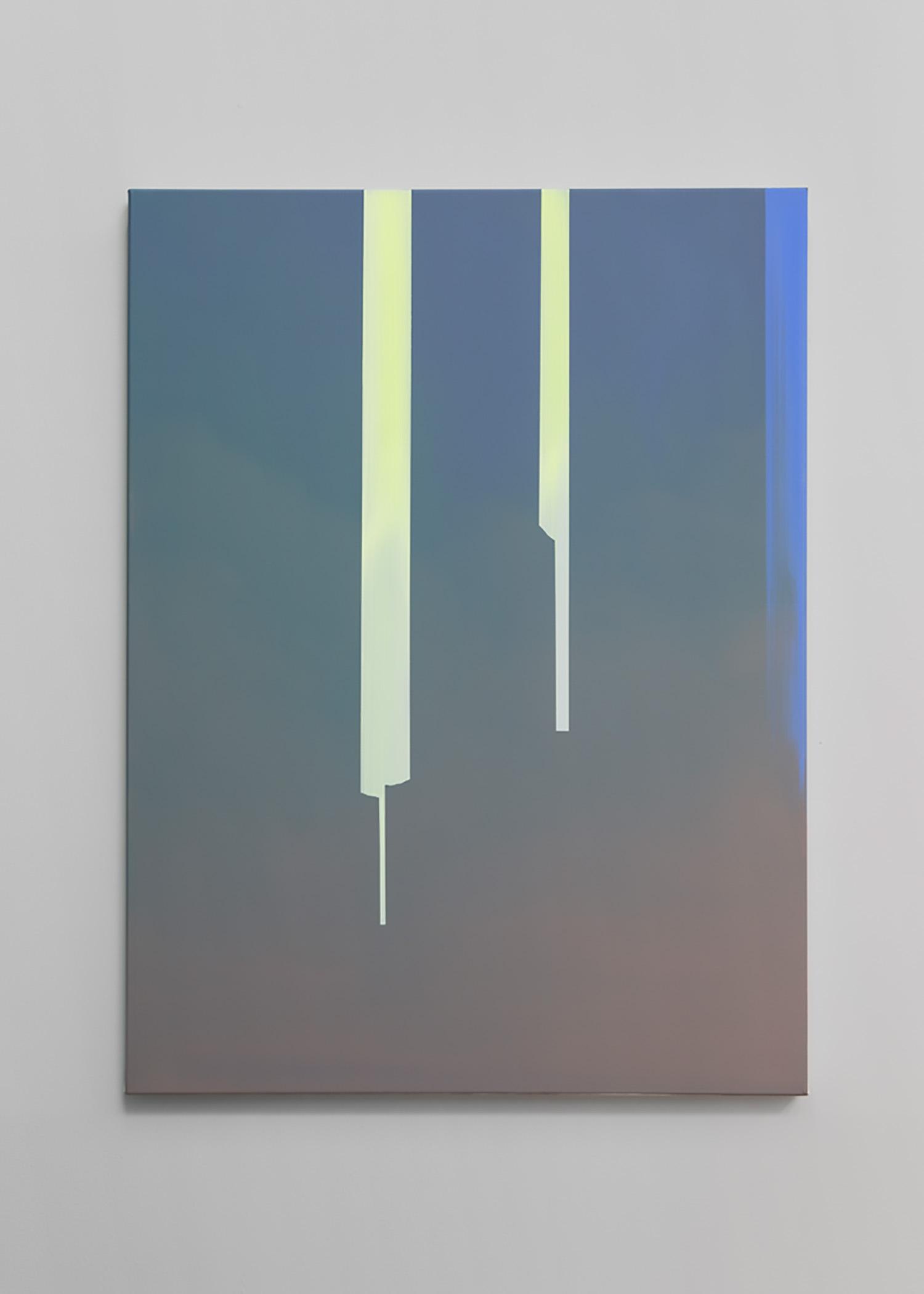 "Wanda Koop ,  In Absentia - Smalt Blue , 2019, Acrylic on canvas on stretcher, 40"" x 30"""