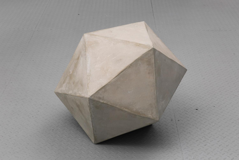 "Caroline Monnet ,    Flow , 2019, Concrete, foam, acrylic, 32"" x 25"" x 25"""