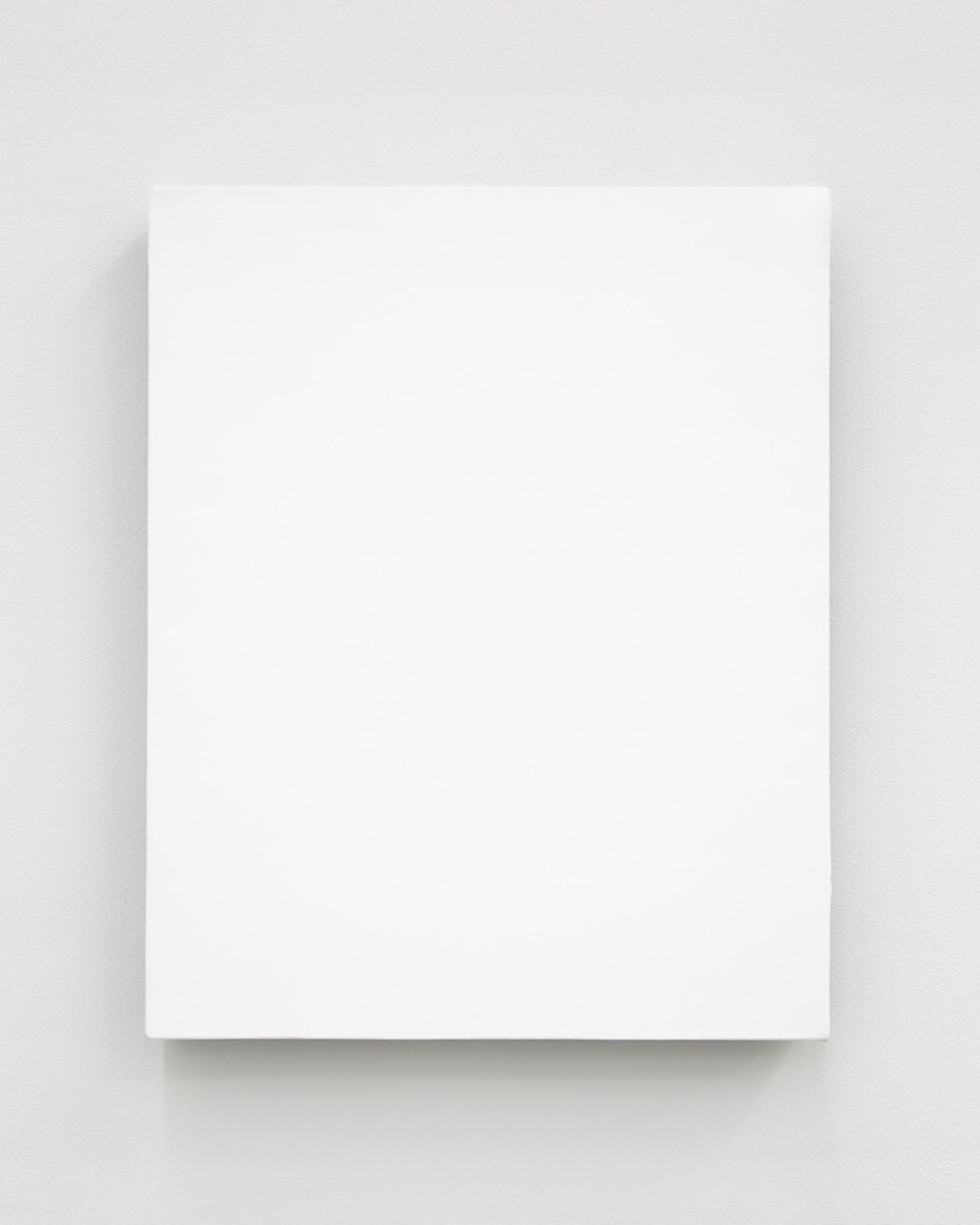 """White Monochrome with Painters Tape , 2017, Acrylic on linen, 20"""" x 16"""" 1 ½"""""""