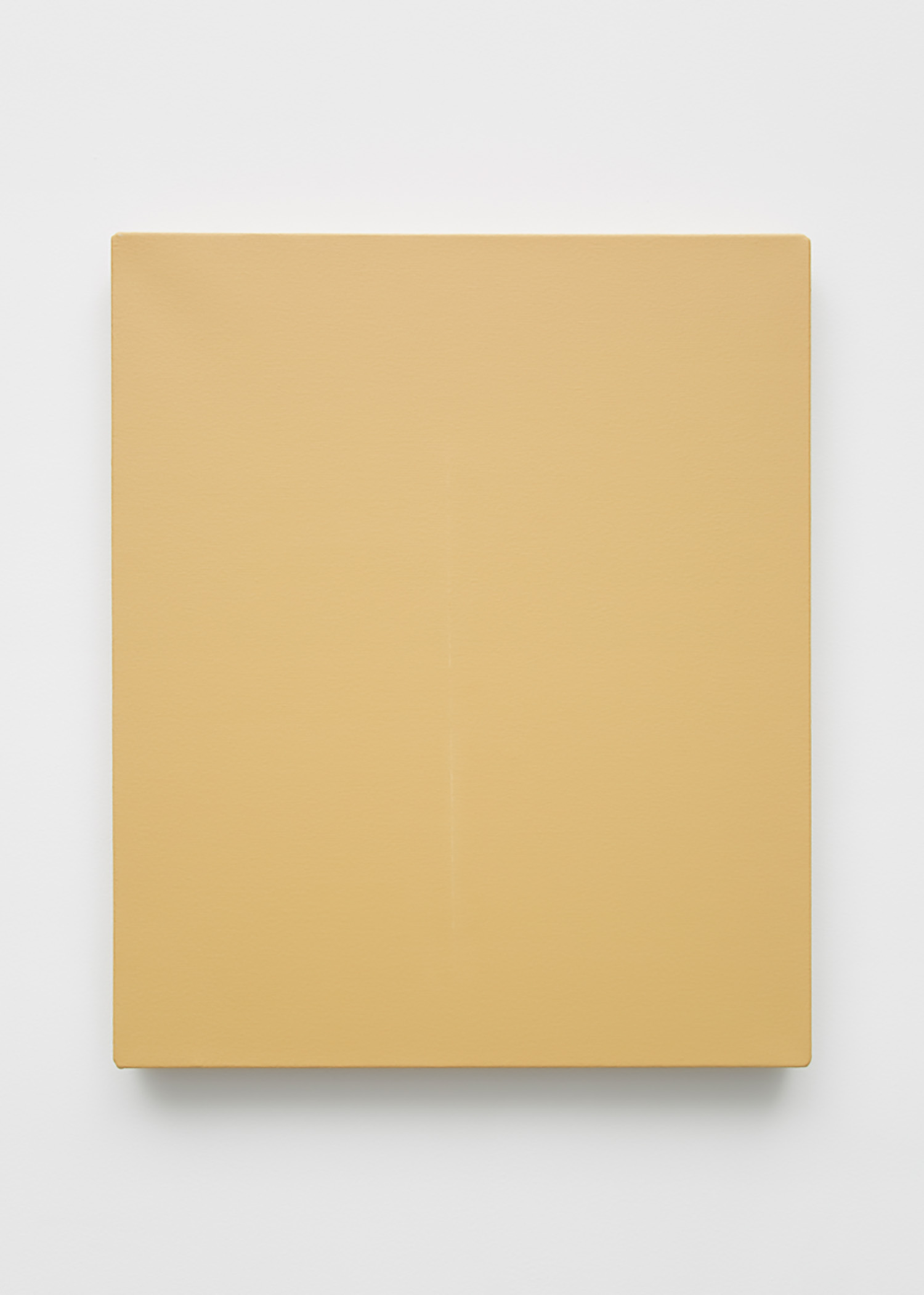"""Concetto spaziale - Attese (conserved) , 2018-2019, Acrylic on canvas, calcium carbonate, polyvinyl alcohol medium, 21 ½"""" x 18"""""""