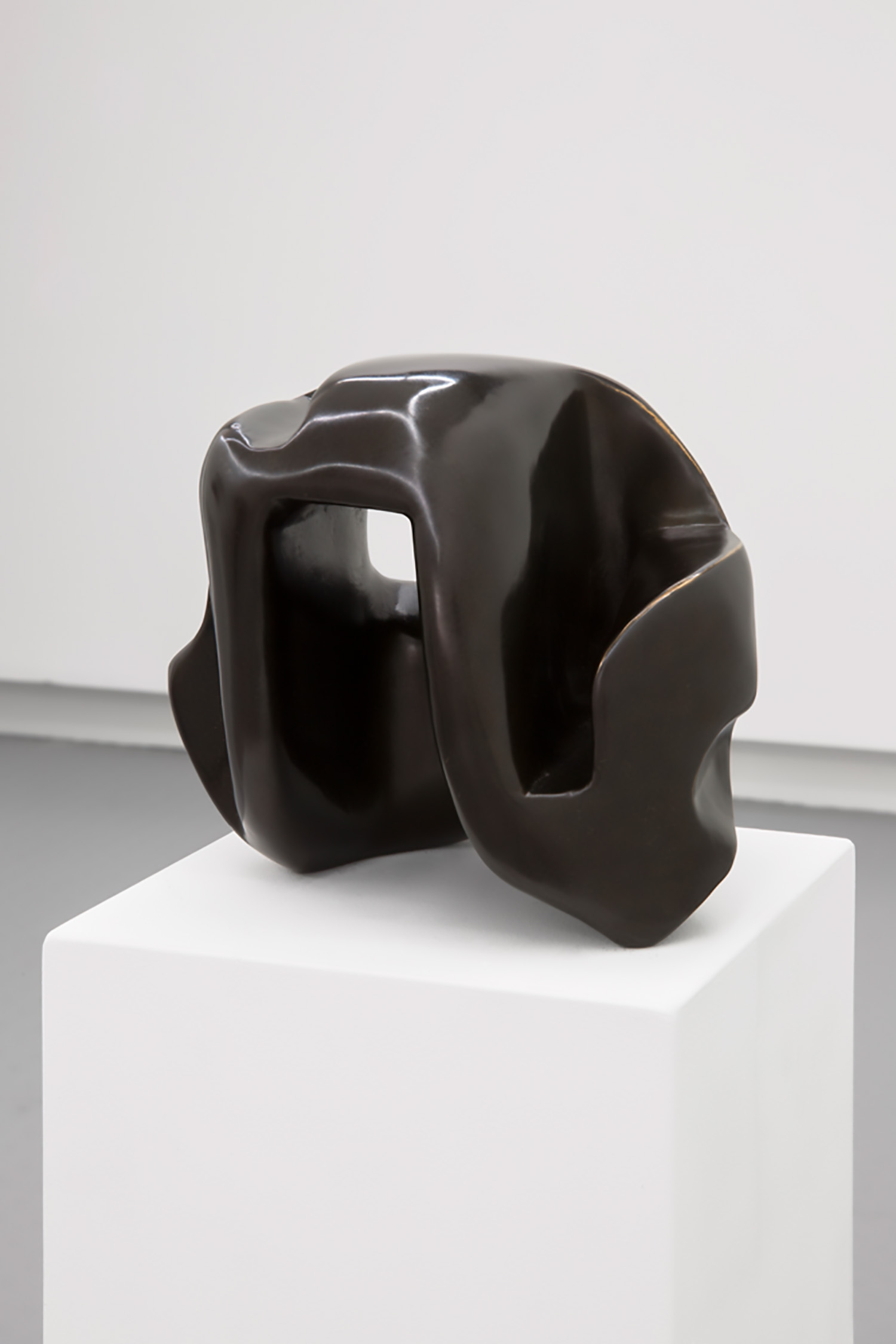 """An Te Liu,   Into the Void (the shape of things to come) , 2017 ,  Cast bronze, 7"""" x 7"""" x 6"""""""