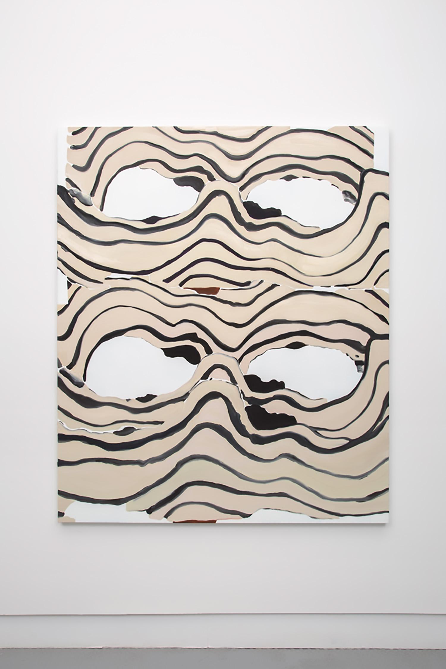 """Elizabeth McIntosh ,  Four Eyes , 2016, Oil on Canvas, 61"""" x 52"""",   Courtesy of CANADA"""