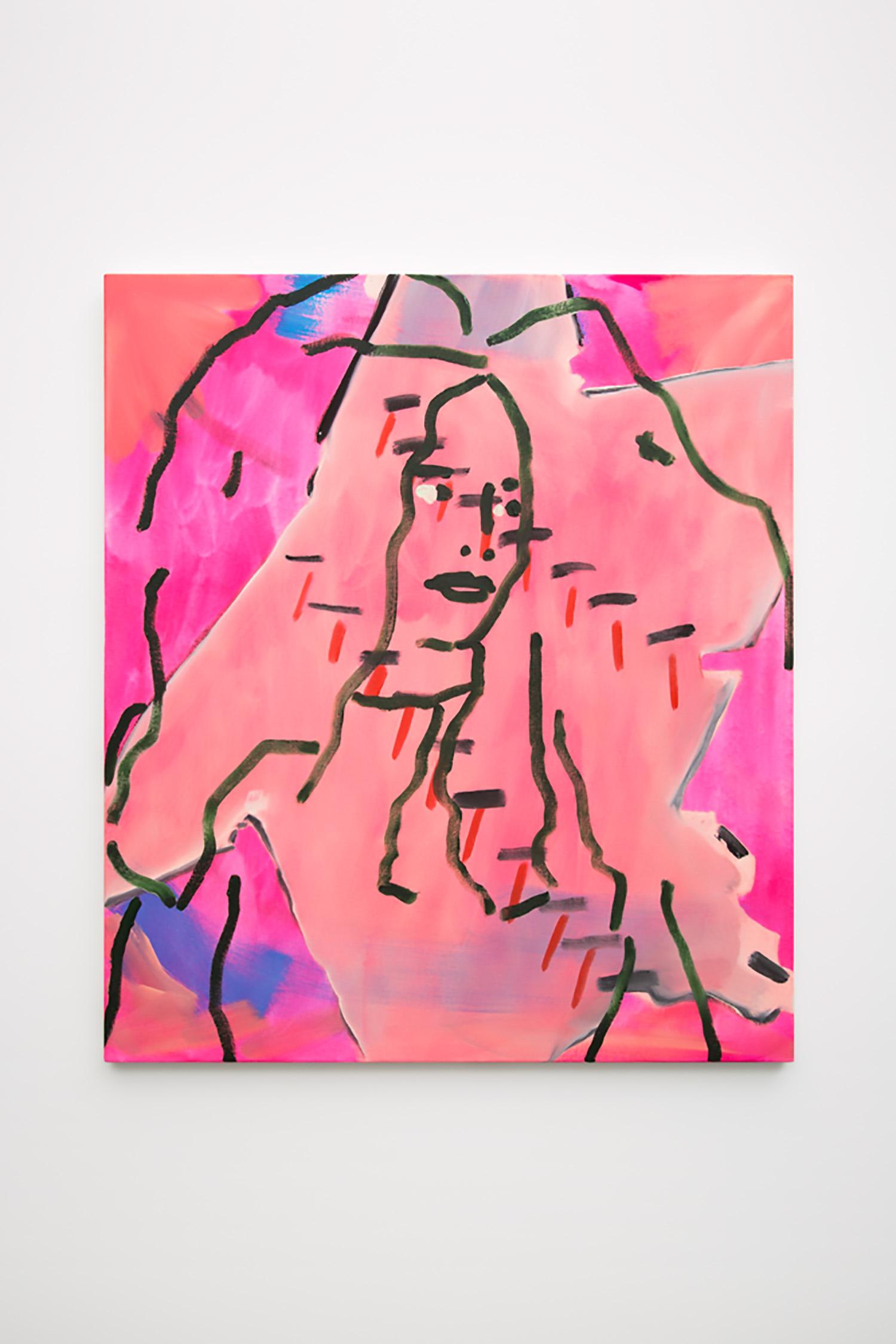 "Elizabeth McIntosh ,  Thirteen , 2016, Flashe and Oil on Canvas,   32"" x 28"", Courtesy of CANADA"
