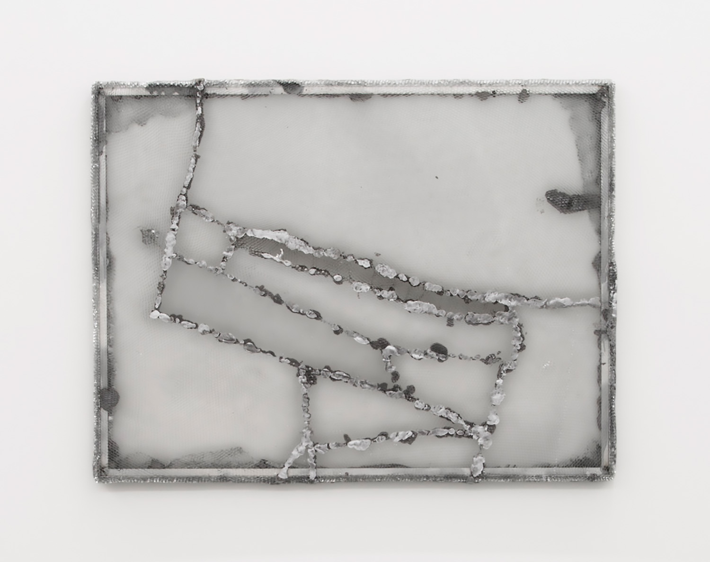 "Piotr Łakomy,   Land , 2017, Aluminium honeycomb, insulation foam, paint ,  33 ⅞"" x 44 ½"", Courtesy of galeria stereo"