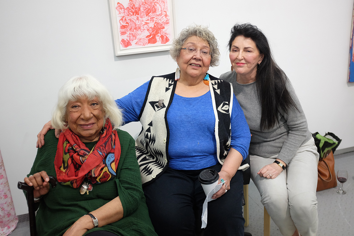 Gloria Miguel ,  Muriel Miguel , and  Diane Fraher ,  Pulling Threads with Amerinda Inc. & Spiderwoman Theatre , A performance as part of Eye to Eye, Arsenal Contemporary NY, 2018