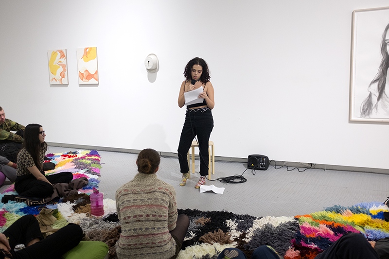Lily Herman ,  Readings , A reading as part of Eye to Eye, Arsenal Contemporary NY, 2018