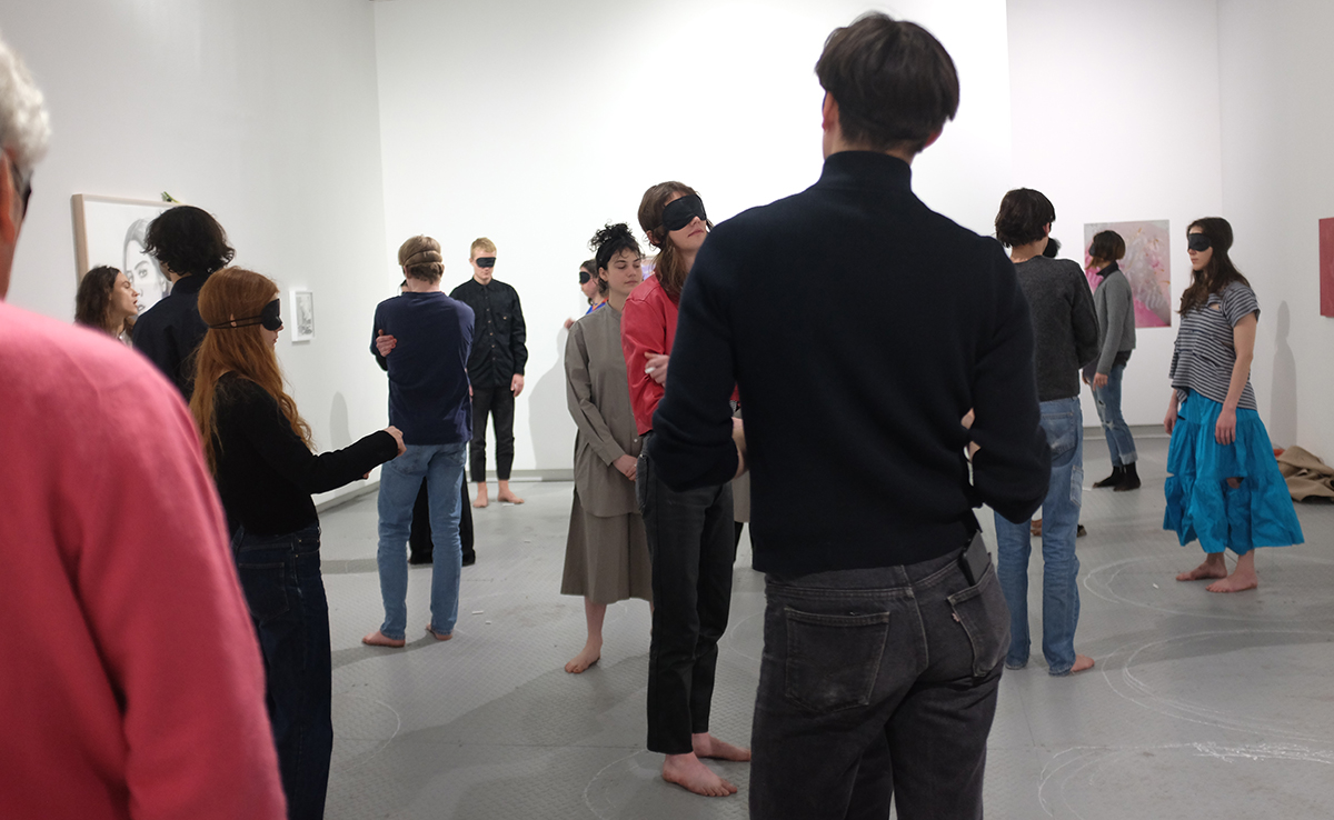 Sara Grace Powell ,  Inside Without, Just To See , A performance as part of Eye to Eye, Arsenal Contemporary NY, 2018