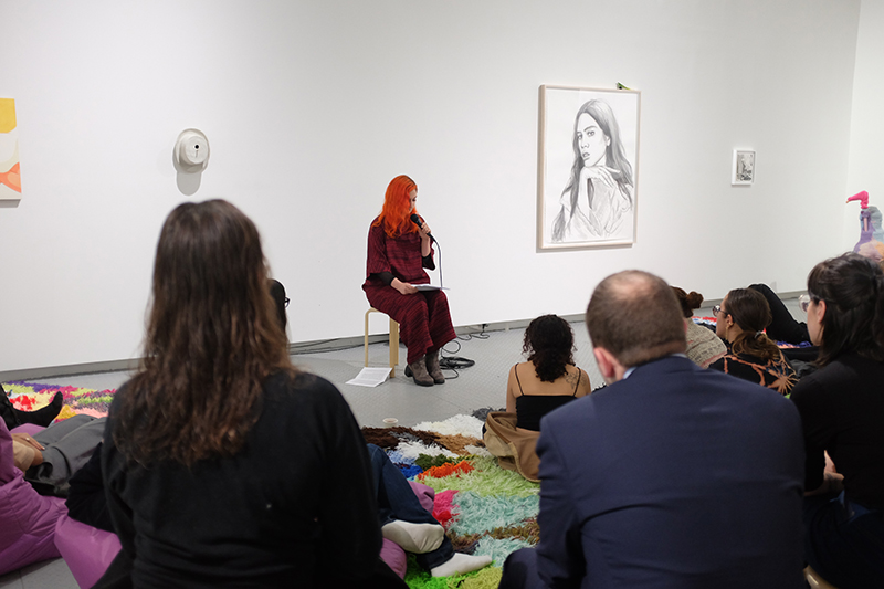 Sarah Zapata ,  Readings , A reading as part of Eye to Eye, Arsenal Contemporary NY, 2018