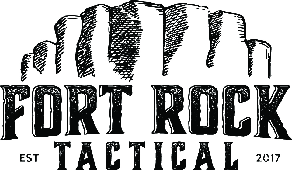 Fort Rock Tactical logo, a Division of DePaul Industries