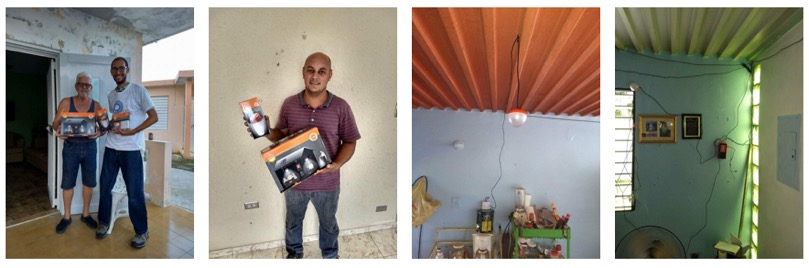In addition to Yabucoa, we partnered once again with a local recipient from a previous distribution who helped us deliver equipment to a variety of people ion need in Rio Grande.