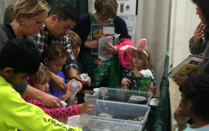 Over the weekend, more than 350 kids took the opportunity to make their own water filter!