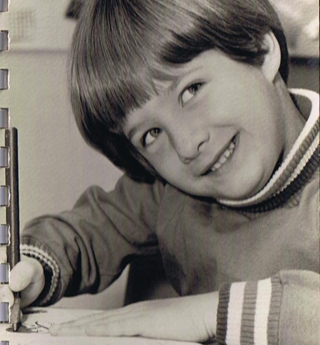Alan as a young aspiring writer.